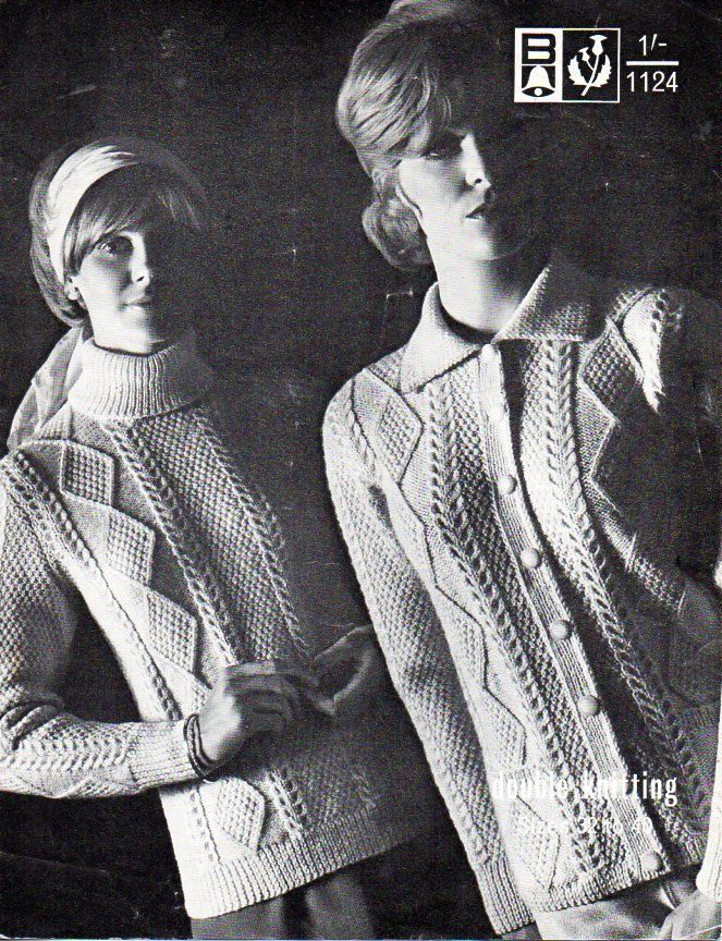 Womens Aran Sweater Aran Jacket Womens Knitting Pattern Pdf Download