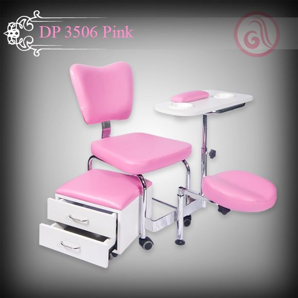 Manicure table chair dp 3506 pink manicure tables for Nail salon table