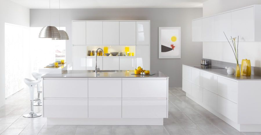 This Ultra Modern Kitchen Utilizes Accents In A Single Color