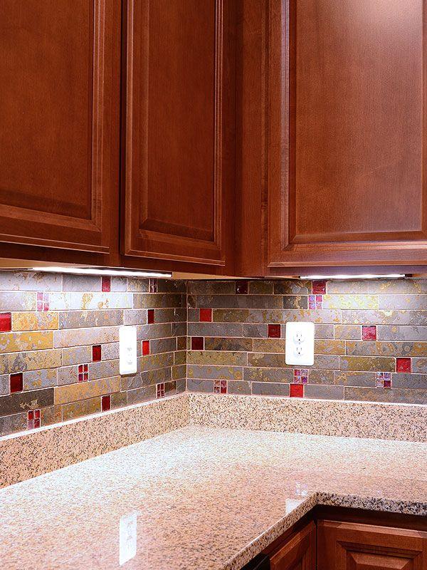 Brazilian Rusty Slate Subway Glass Backsplash Tile Tile Backsplash Glass Backsplash Mosaic Tile Backsplash Kitchen