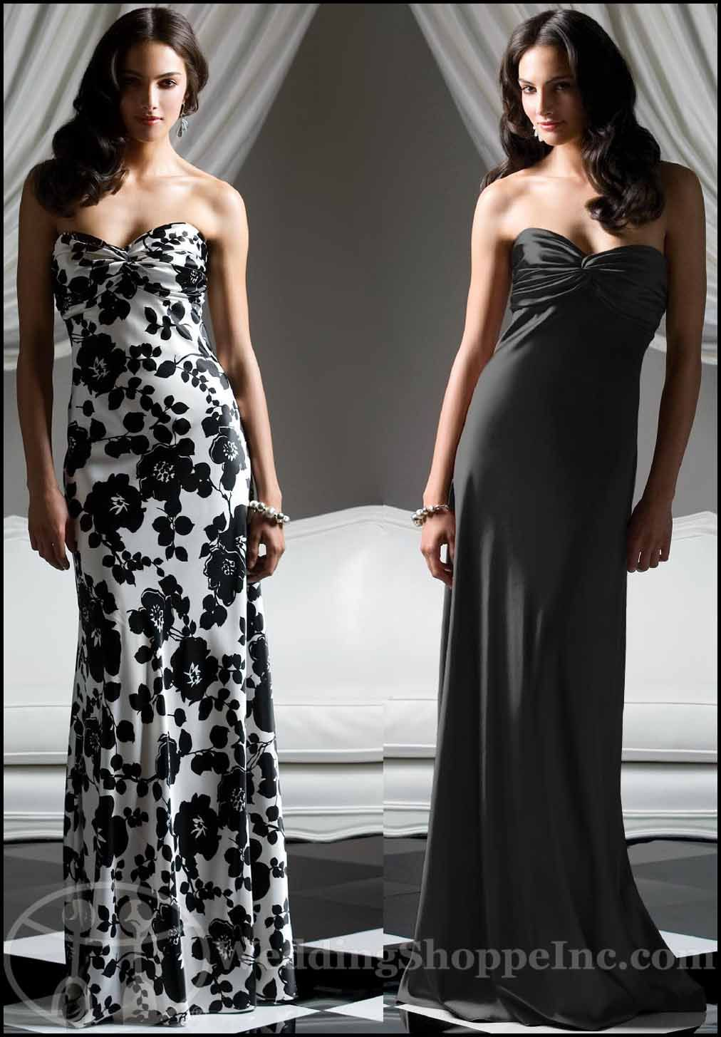 A Black and White Affair: Black and White Dessy Bridesmaid ...