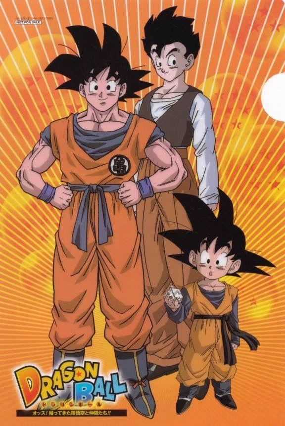 La Familia Son Goku Gohan Goten Dragon Ball Z Dragon Ball Super Gohan And Goten