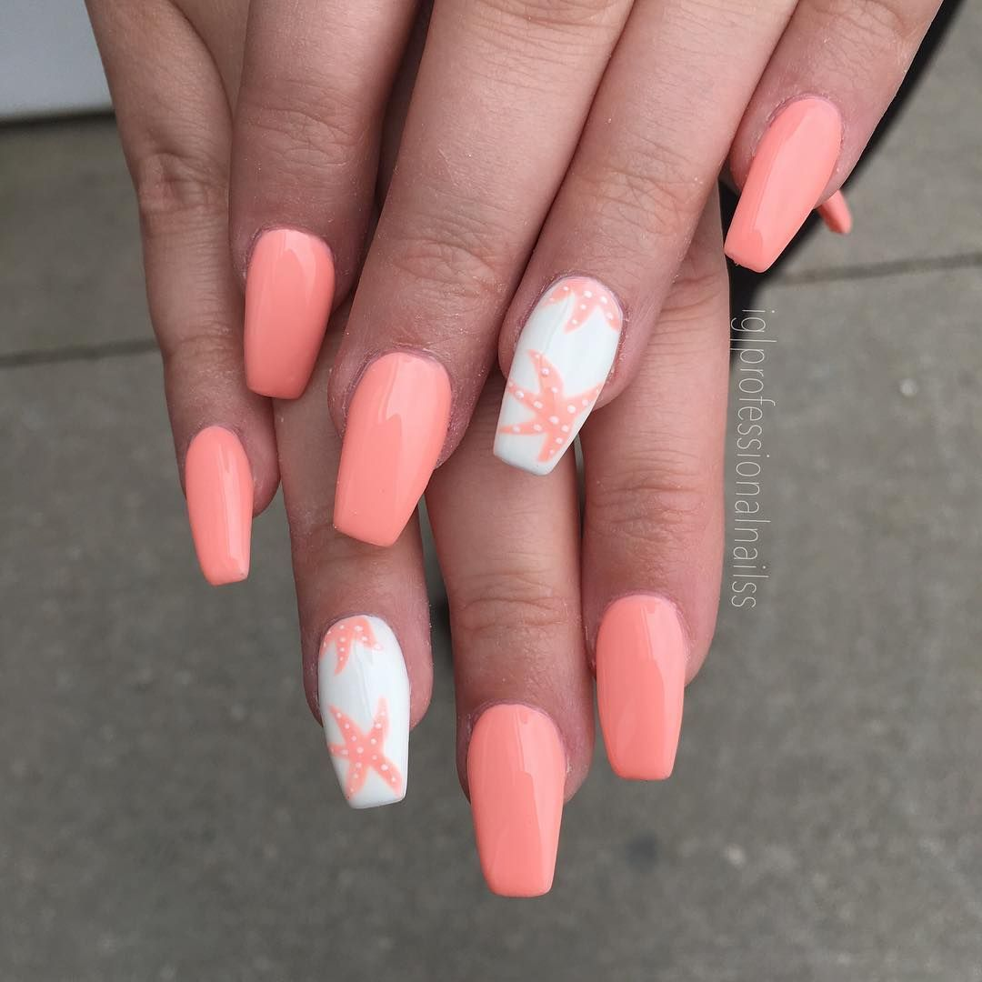 55 Beautiful Summer Coffin Nails Easy To Copy Coffin Nails Long