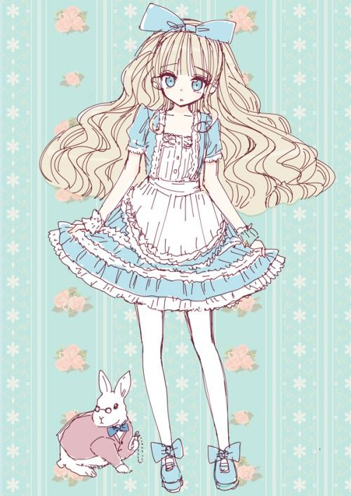 Cute Alice in Wonderland by Tumblr. | anime in 2019 ...
