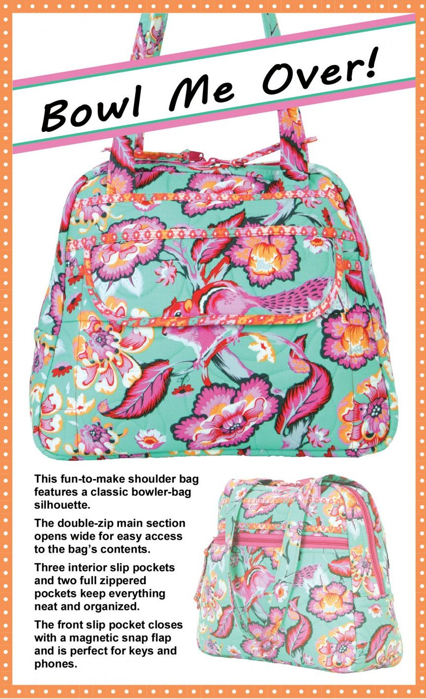 Bowl Me Over Sewing Pattern By Annie Unrein Shoulder Bags