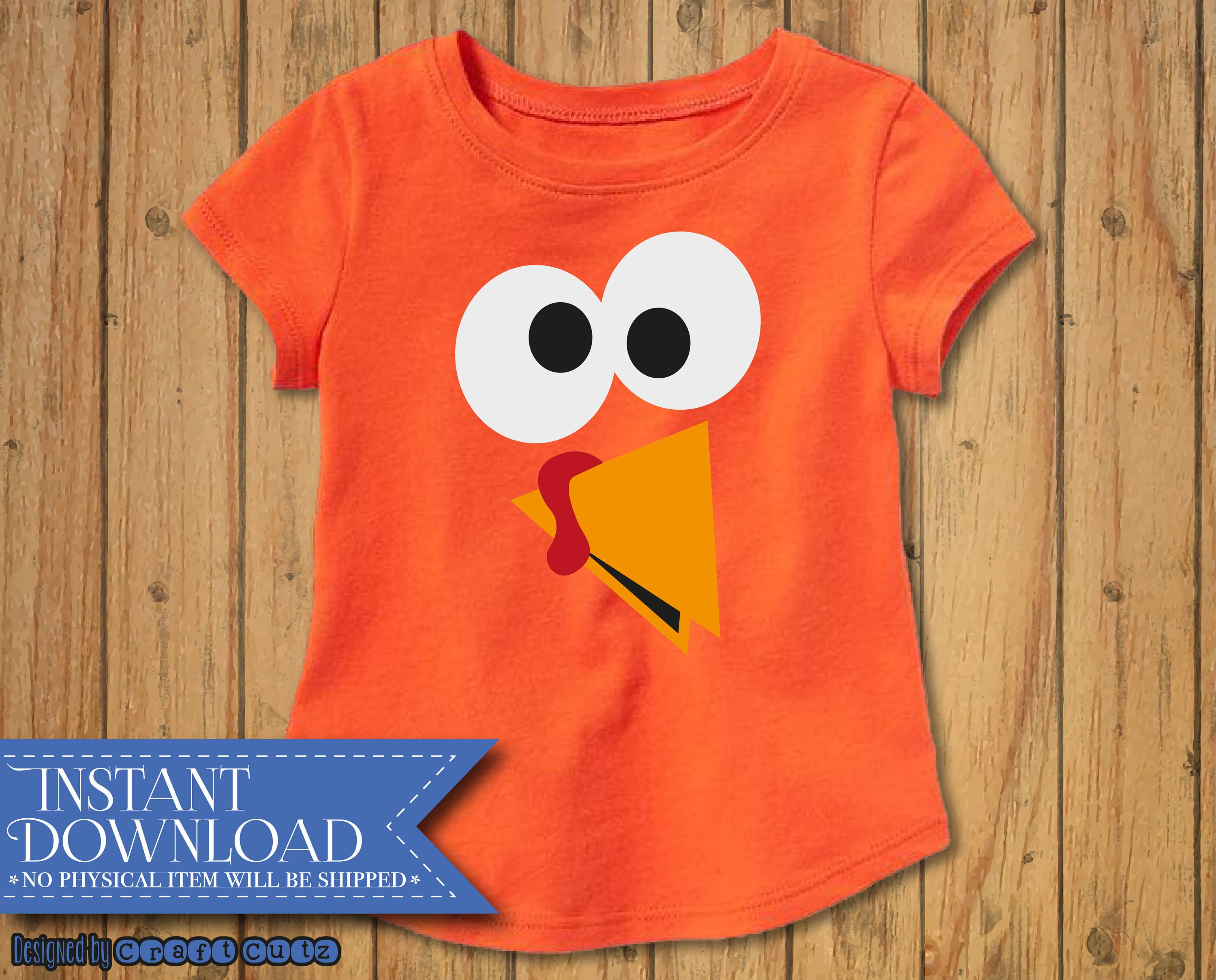f945fc66 Turkey Face Clipart - DIGITAL DOWNLOAD - Cute Turkey - DIY Thanksgiving  shirt - Funny Turkey Clip Art - Thanksgiving Toddler Shirt by CraftCutz on  Etsy
