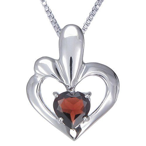 Vir Jewels Sterling Silver Garnet Heart Pendant With 18 Inch Chain FineDiamonds9 via https://www.bittopper.com/item/vir-jewels-sterling-silver-garnet-heart-pendant-with-18/