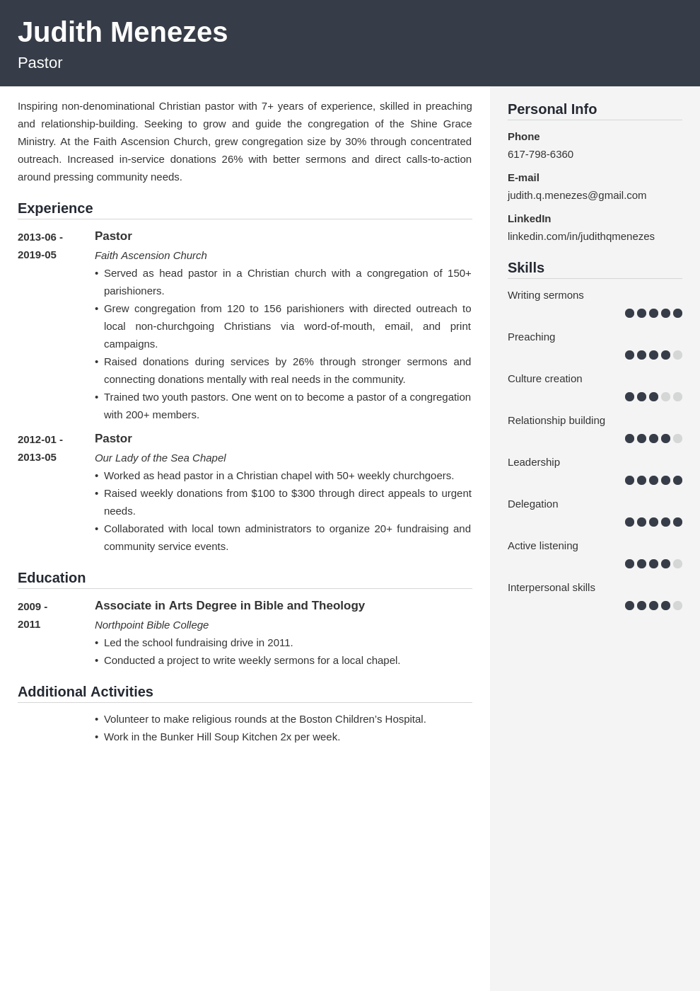 pastor resume example template cubic  resume examples