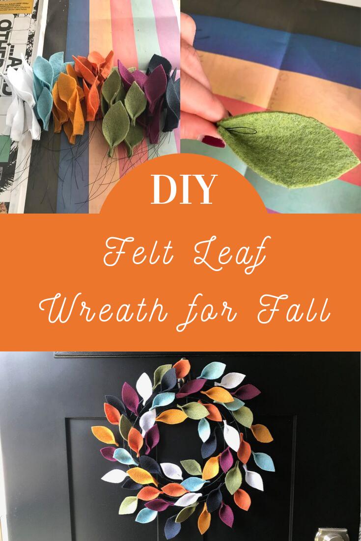 A felt leaf wreath for Fall