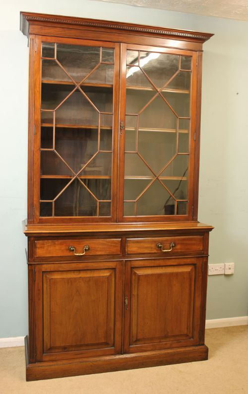 Antique Mahogany Cupboard Bookcase