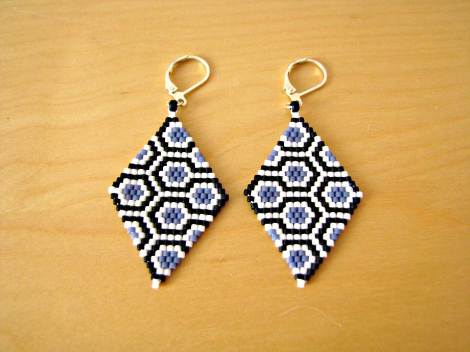 Boucle d'oreille triangle perle