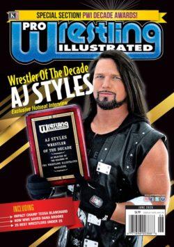 Pro Wrestling Illustrated June 01 2020 Magazine March 13 2020 Aj Styles Pro Wrestling Wrestling