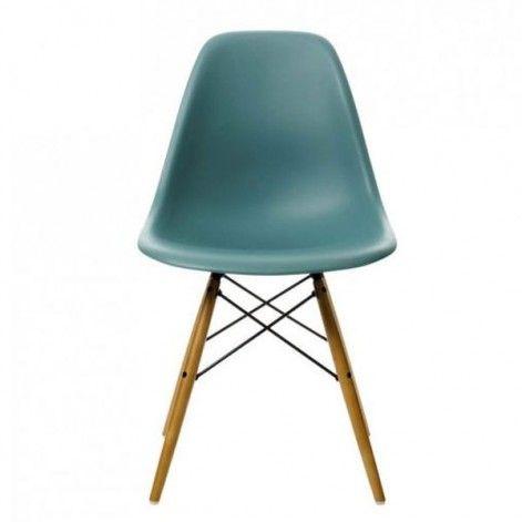 Vitra eames dsw stoel met geelachtig esdoorn onderstel - Eames eames stoel ...