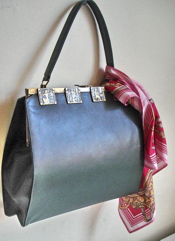 60s Art Deco Handbag Coronet Ny Kelly Bag By Mushkavintage3
