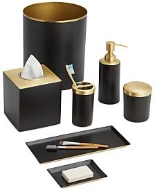 bathroom accessories and sets - macy's | black and gold