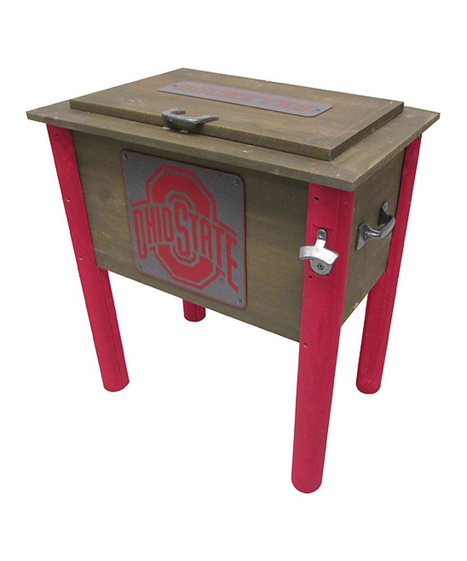 Ohio state buckeyes rustic wooden cooler by leigh country zulily ohio geotapseo Gallery