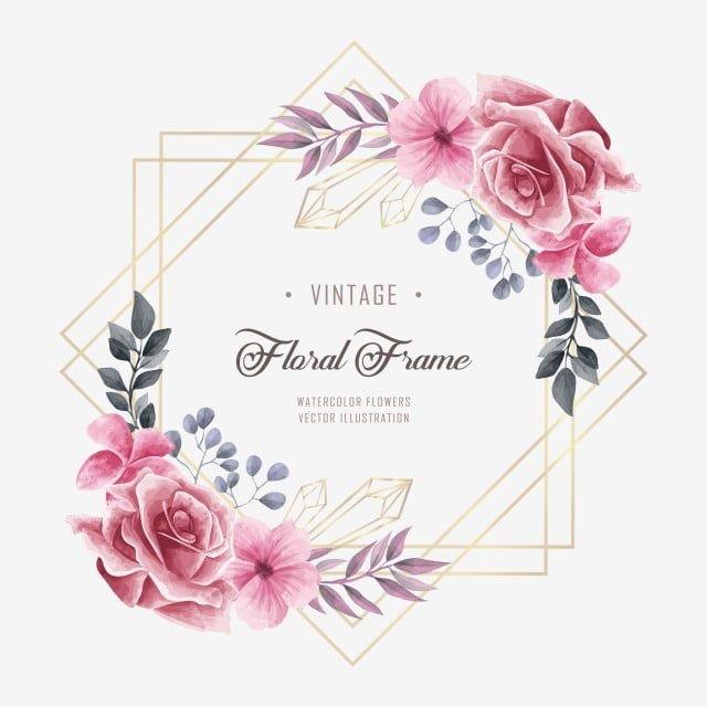 Photo of Bellissimo sfondo floreale cornice matrimonio floreale fiore, sfondo, modello, fiore PNG e vettoriale per il download gratuito