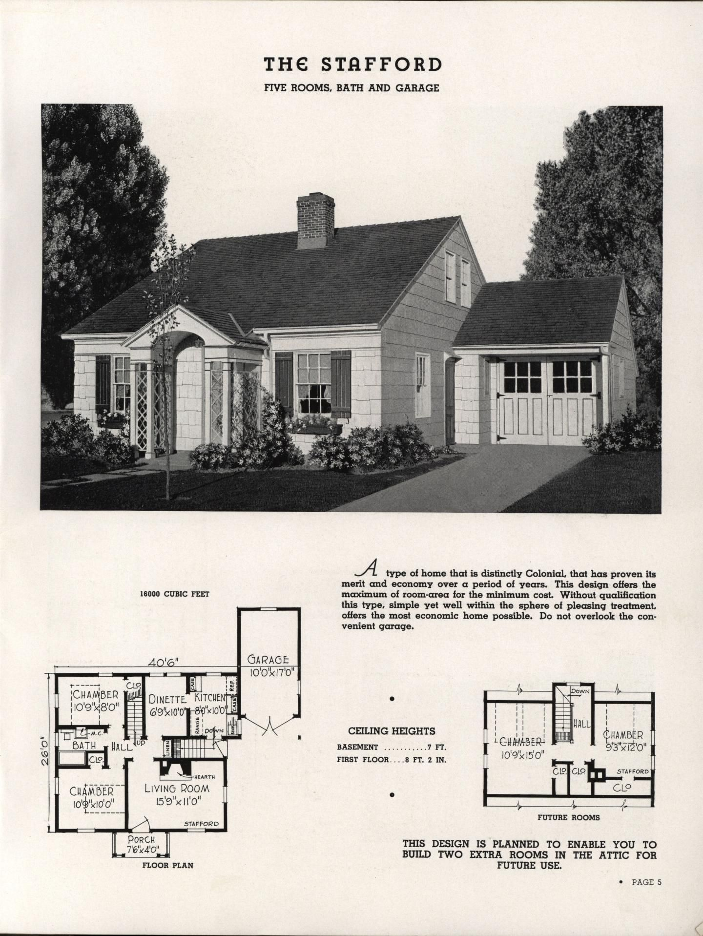 Select Homes Of Moderate Cost Historic Preservation Architecture Vintage House Plans Architecture