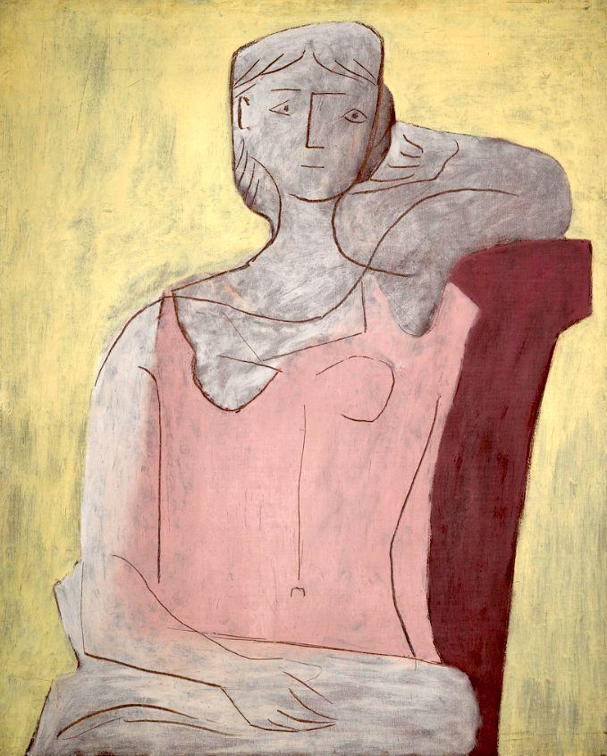 Donna in un DressPablo rosa Picasso - 1917