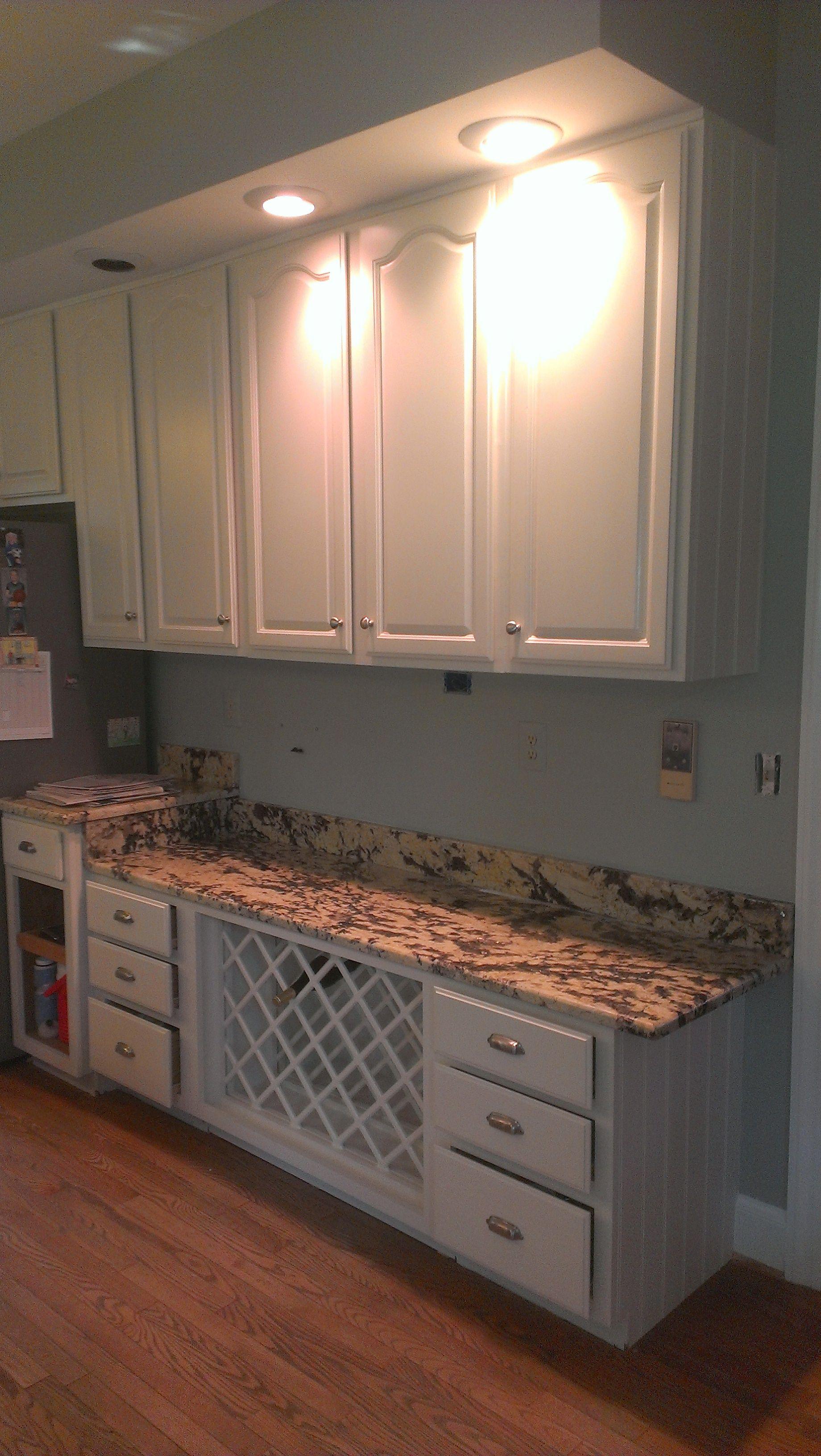 From Dark Cherry To Warm Off White Refinishing Cabinets Kitchen Cabinet Organization Kitchen Organization
