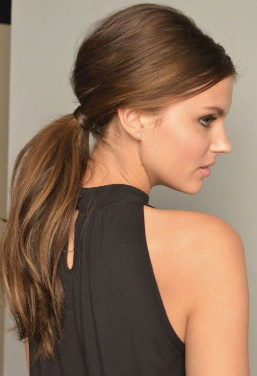 ponytail hairstyle for straight hair
