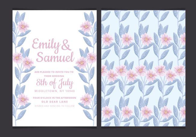 Invitation Letter For A Watercolor Flower Wedding Download The Hd