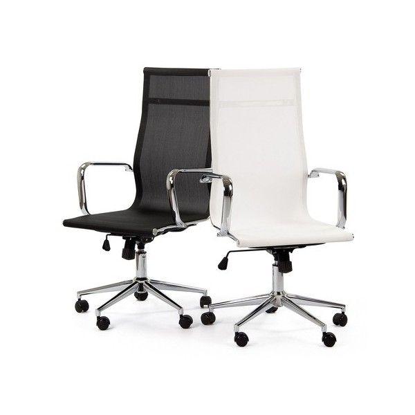 silla oficina malla replica eames alta negra tiendas on