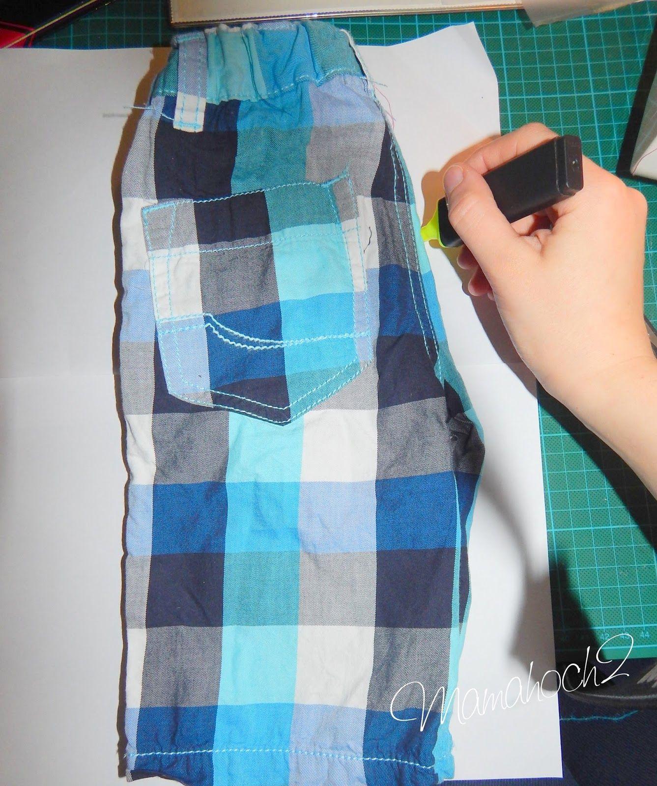 Mamahoch2: Kurze Hose mit eigenem Schnittmuster nähen | Handarbeiten ...