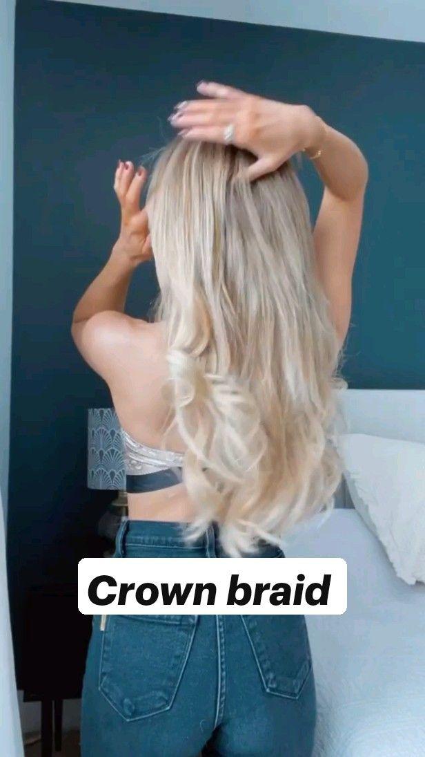 Crown braid / Hairstyles /Americanstyle / Easy Hai