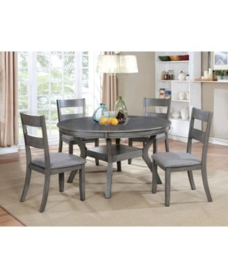 Murang Gray Side Chair Set Of 2 In 2020 Grey Dining Tables Dining Room Sets Round Dining Table