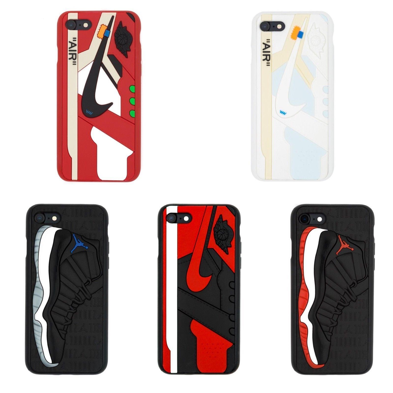 Nike Jordan 1s 11s Bred Space Jam 3D iPhone X 6 6s 7 8 Plus Case ...