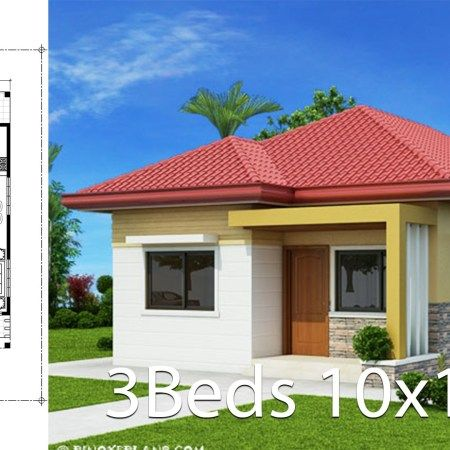 Small Home Design Plan 9x6 6m With One Bedroom Home Ideas Small House Design Plans Home Design Plan Home Design Plans
