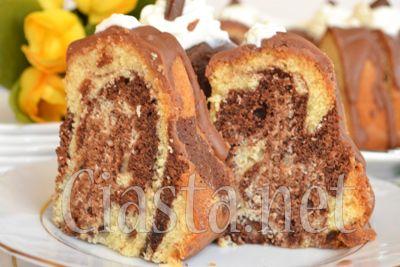 przepis na babkę marmurkową z czekoladą