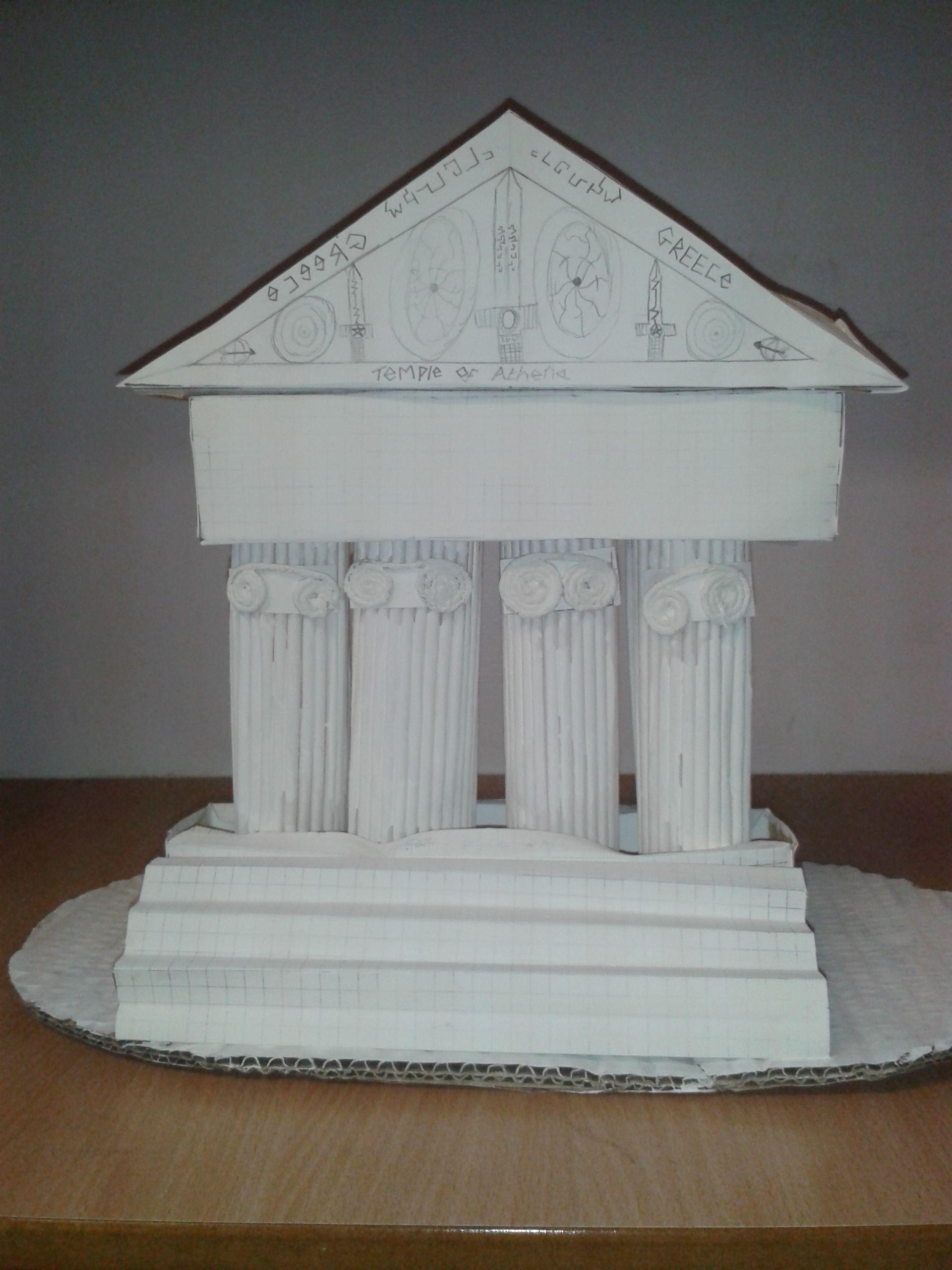Greek Temple Ks2 Art Design Ancient Greeks