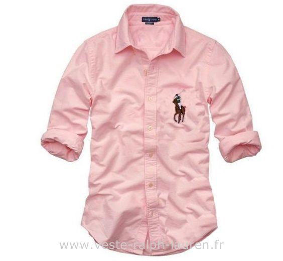 b04cc27d635e boutique Officielle Ralph Lauren chemises france femmes pink Chemise Polo Ralph  Lauren Femme