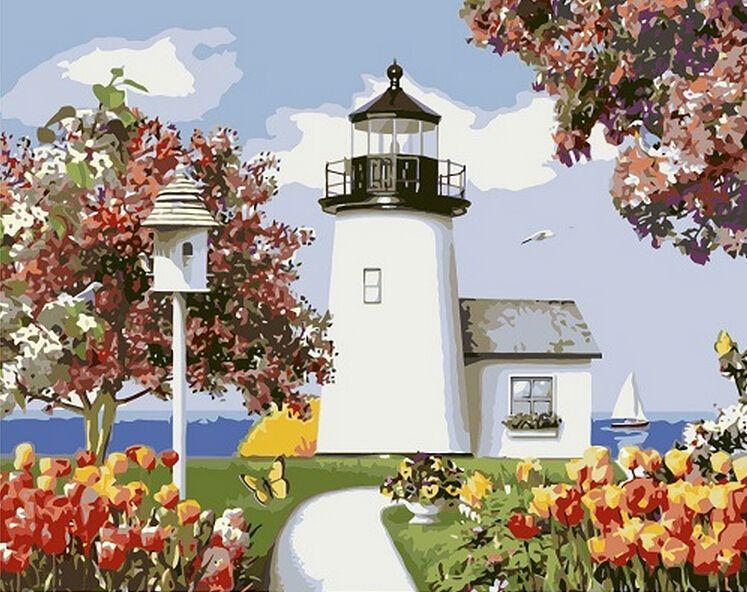 Imágenes de paisajes pintura al óleo de diy por números pintura ...