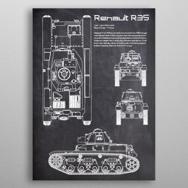 Renault R35 by FARKI15 DESIGN | metal posters - Displate | Displate thumbnail