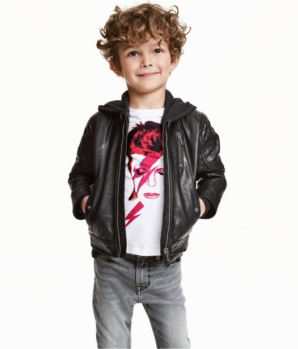 5633bc4a571a3b Biker Jacket | H&M Kids | H&M KIDS | Little kid fashion, Baby boy ...