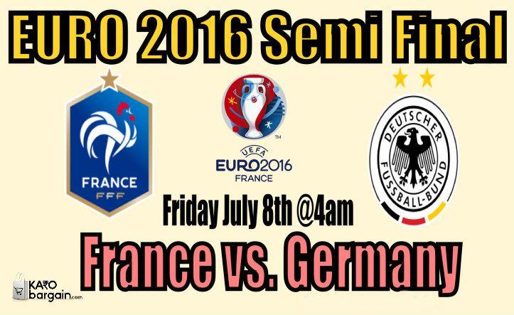 #GER vs #FRA #SemiFinalEuro #EURO2016 at SonyLIV #Euro16onSonyLIV  Game on! #KaroBargain #football #eurocup #win