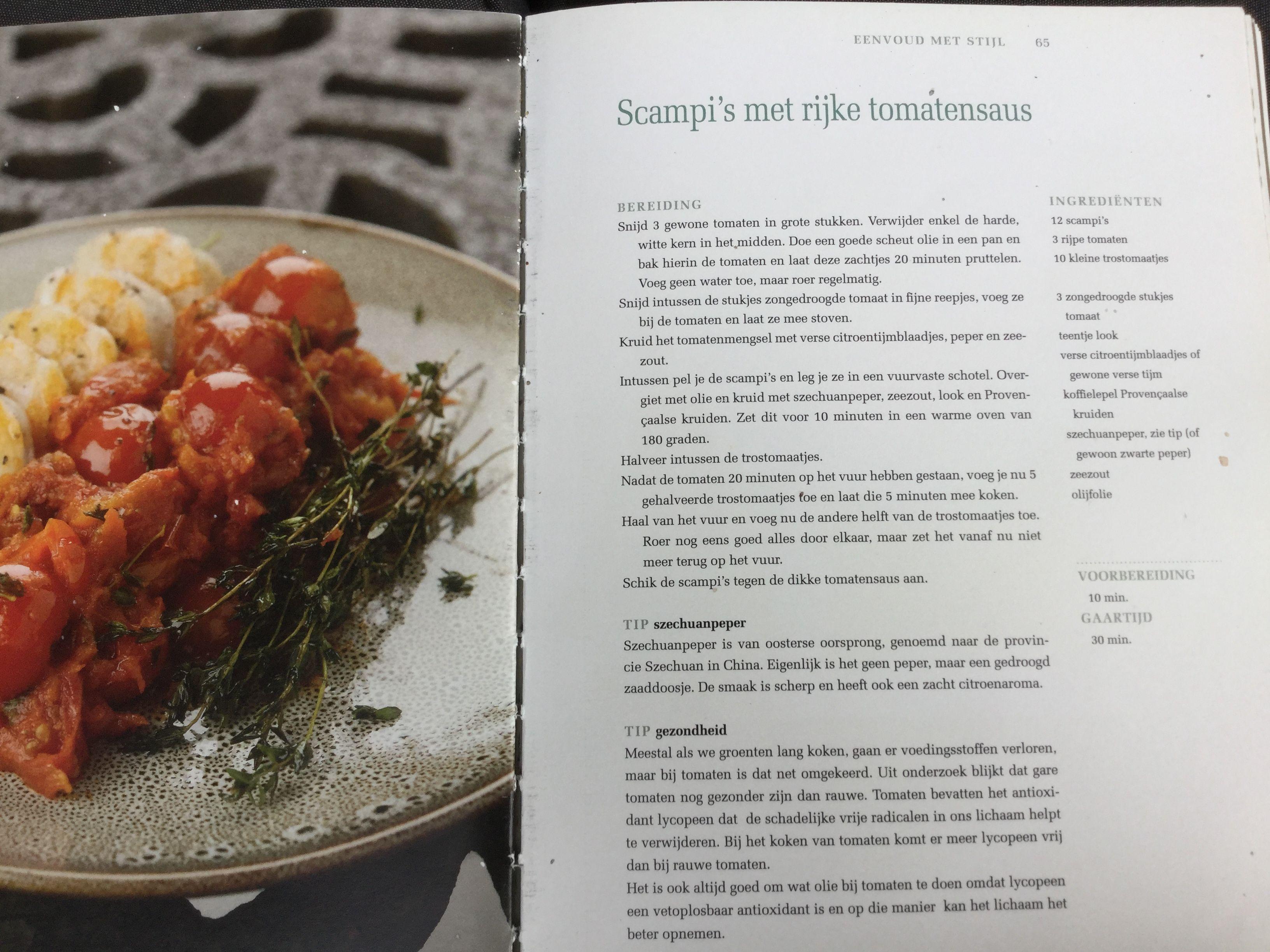 Mijn Pure Keuken : Scampis met rijke tomatensaus pascal naessens mijn pure keuken