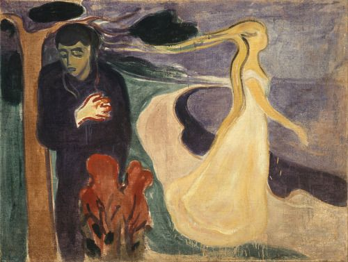 Edvard Munch - Separation 1896 - oil on canvas