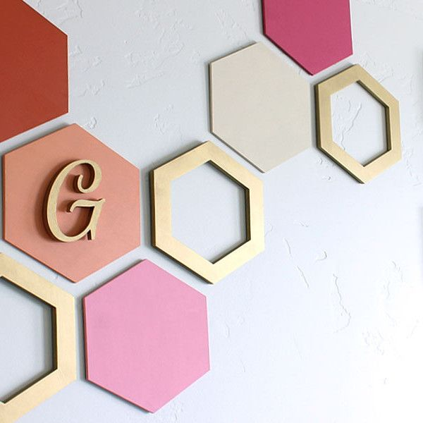 Hexagon Wall Art Wood