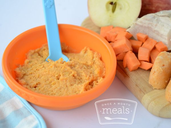 Chicken with sweet potatoes and apples 8 months apples babies homemade baby foods adding sweet potatoes and apples is a great way to introduce chicken to your little one forumfinder Images