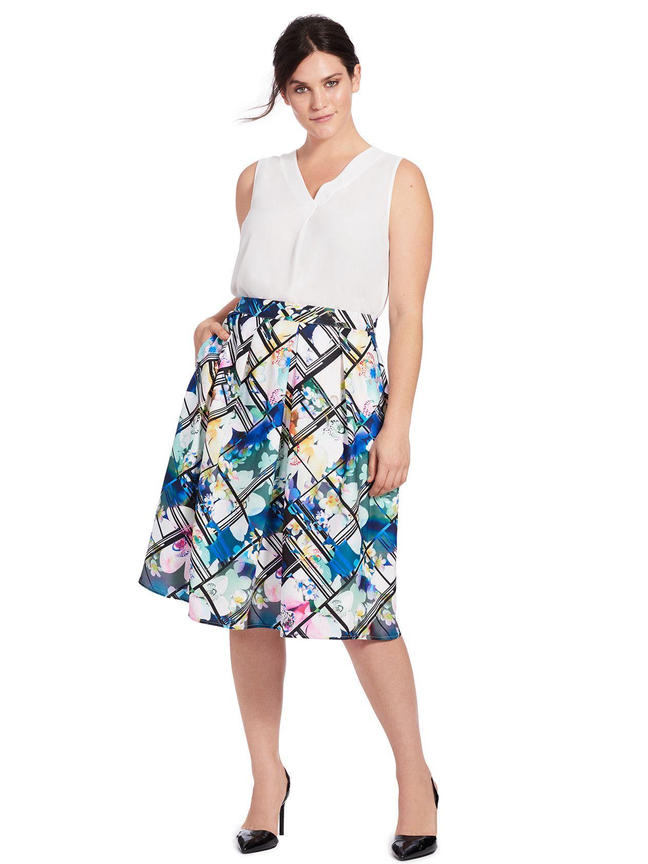 be62538c9e Orchid Floral Skirt | Ali Tate Cutler | Skirts, City chic, Chic