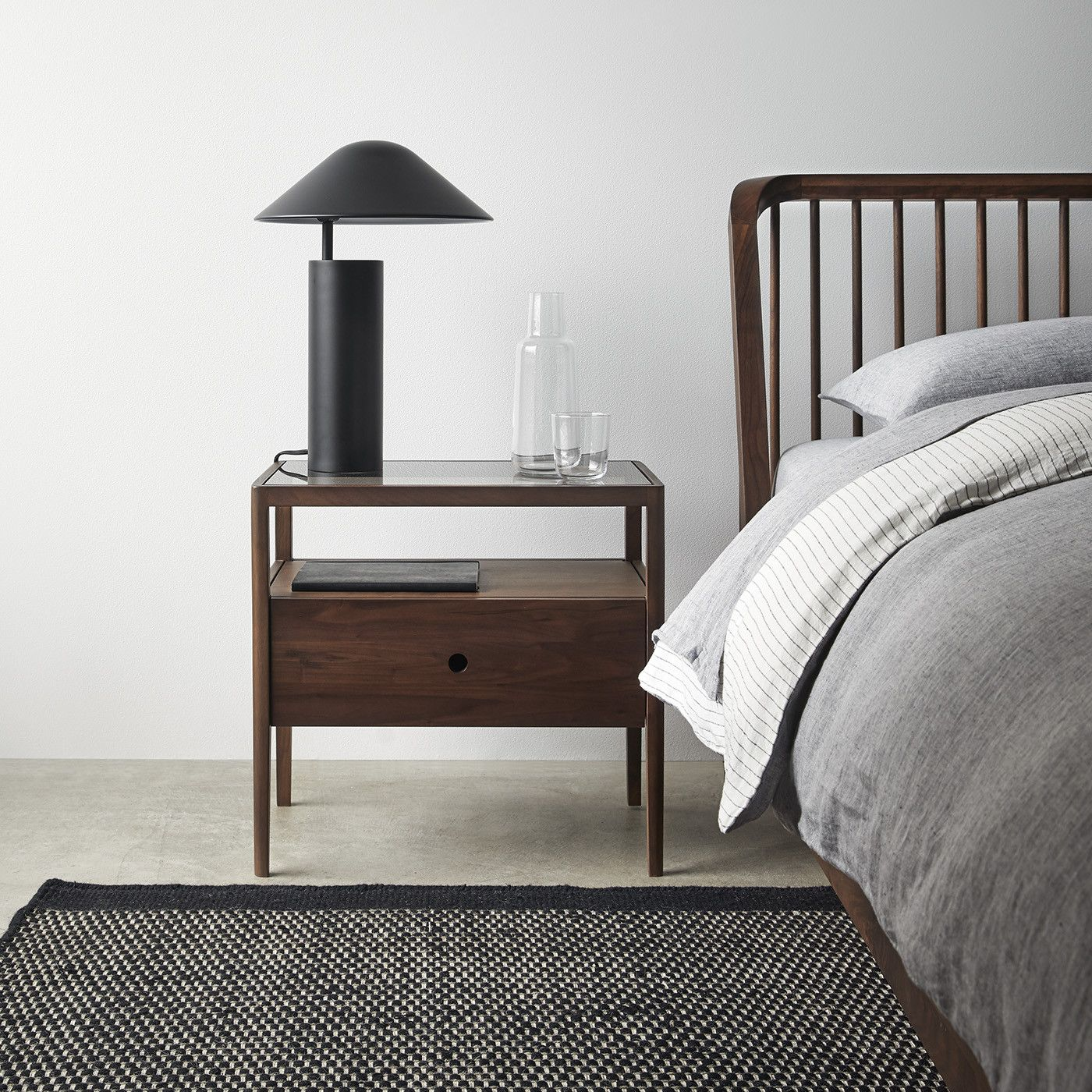 Spindle Walnut Nightstand (With images) Walnut