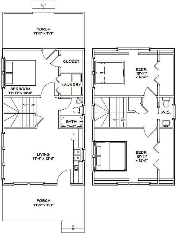 This Is A Pdf Plan Available For Instant Download 18x30 House 3 Bedroom 1 5 Bath Home With Cooktop Tiny House Floor Plans 20x30 House Plans House Floor Plans
