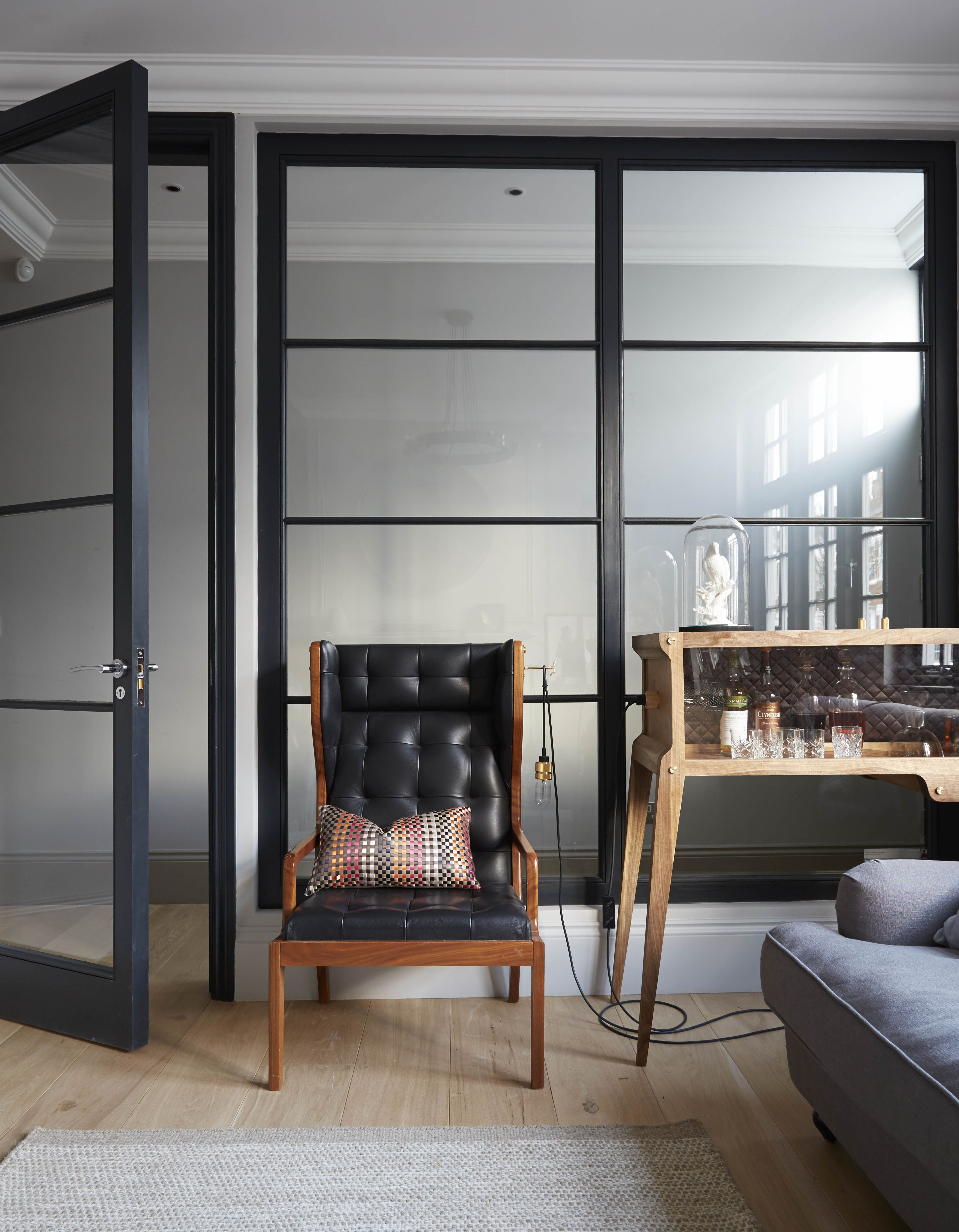 crittall style interior timber windows by minale mann. Black Bedroom Furniture Sets. Home Design Ideas