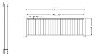 "Best 36""H X 120""W Avon Square Top Aluminum Railing Deck 400 x 300"