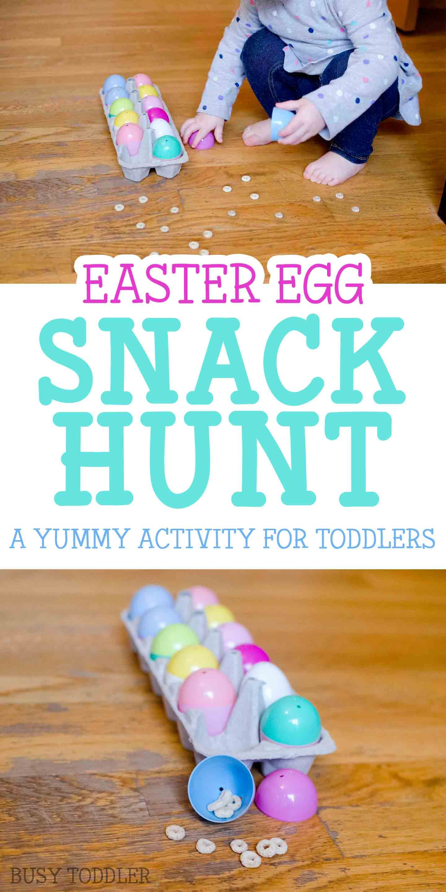 Easter Egg Snack Hunt Busy Toddler Easter Activities For Kids Toddler Easter Easter Crafts For Kids