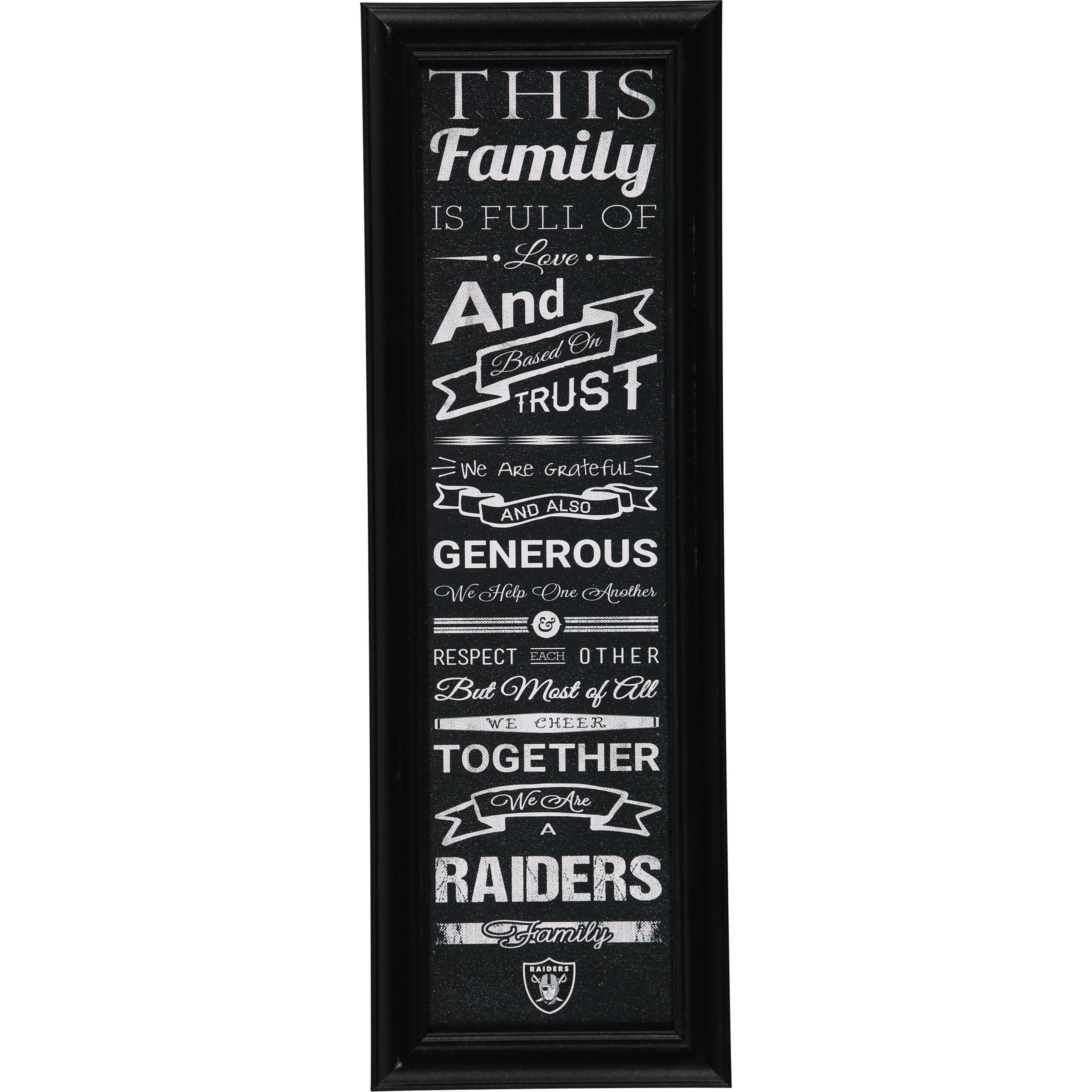 Oakland Raiders Crackle Family Cheer Framed Art | Pinterest